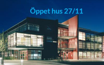 Öppet hus den 27/11 kl: 10-13