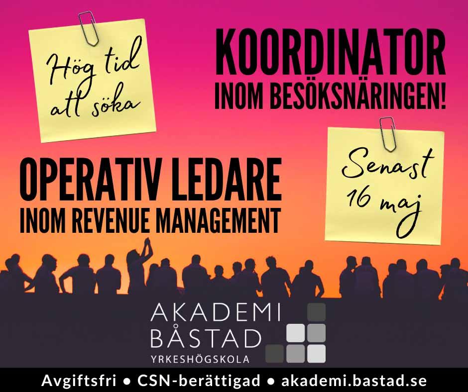 Koordinator inom besöksnäringen & Operativ ledare – Revenue Management
